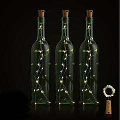 お買い得  LED アイデアライト-BRELONG® 1個 ワインボトルストッパー LEDナイトライト 温白色 / ホワイト / レッド ボタン電池駆動 創造的 / ウェディング / デコレーション <5 V