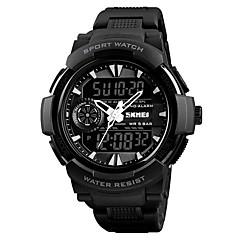 preiswerte Armbanduhren für Paare-SKMEI Armbanduhr Digitaluhr Sender Wasserdicht, Kalender, Stopuhr Schwarz / Rot / Blau / Nachts leuchtend