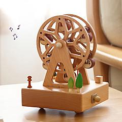 abordables Caja de Música-Caja de música Rueda de la fortuna Moda Bonito Creativo Adultos Niños Regalo Madera Unisex Regalo