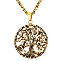 Недорогие Ожерелья-Муж. Ожерелья с подвесками - Нержавеющая сталь Дерево жизни Мода Золотой, Серебряный 55 cm Ожерелье Бижутерия 1шт Назначение Подарок, Повседневные