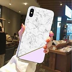 Недорогие Кейсы для iPhone 6-Кейс для Назначение Apple iPhone X / iPhone 8 Прозрачный / С узором Кейс на заднюю панель Мрамор Мягкий ТПУ для iPhone X / iPhone 8 Pluss / iPhone 8