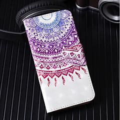 Недорогие Кейсы для iPhone 6-Кейс для Назначение Apple iPhone X / iPhone 8 Plus Кошелек / Бумажник для карт / со стендом Чехол Кружева Печать Твердый Кожа PU для iPhone X / iPhone 8 Pluss / iPhone 8