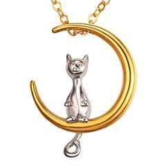 preiswerte Halsketten-Damen Stilvoll Anhängerketten - Edelstahl MOON, Kreativ Romantisch, Modisch Gold 55 cm Modische Halsketten 1pc Für Geschenk, Alltag