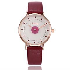 preiswerte Damenuhren-Damen Kleideruhr / Armbanduhr Chinesisch Neues Design / Armbanduhren für den Alltag PU Band Freizeit / Modisch Schwarz / Weiß / Rot