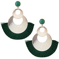abordables Bijoux pour Femme-Femme Glands Boucles d'oreille goutte - Européen, Mode, énorme Vert / Bleu / Vin Pour Soirée