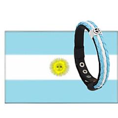 preiswerte Armbänder-Herrn Geflochten Lederarmbänder - Leder Fahne, Frieden Einfach, Modisch Armbänder Blau / Hellblau / Kühlweiß Für Alltag Strasse
