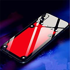 Недорогие Кейсы для iPhone 7 Plus-Кейс для Назначение Apple iPhone X / iPhone 8 Защита от удара / Зеркальная поверхность Кейс на заднюю панель Однотонный Твердый Закаленное стекло для iPhone X / iPhone 8 Pluss / iPhone 8
