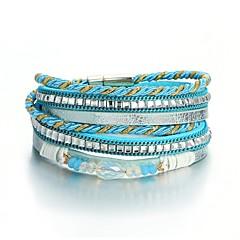 preiswerte Armbänder-Damen Retro Wickelarmbänder - Schleife Modisch, Volkston Armbänder Blau Für Alltag