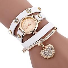 preiswerte Damenuhren-Damen Armband-Uhr Chinesisch Armbanduhren für den Alltag PU Band Freizeit / Modisch Schwarz / Weiß / Blau