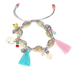 preiswerte Armbänder-Damen Weißer Türkis Stilvoll Strang-Armbänder - Hülle Klassisch, Quaste, Böhmische Armbänder Silber Für Alltag