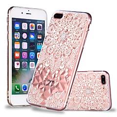 Недорогие Кейсы для iPhone 6-Кейс для Назначение Apple iPhone X / iPhone 8 Plus Прозрачный / С узором Кейс на заднюю панель Мандала / Кружева Печать Мягкий ТПУ для iPhone X / iPhone 8 Pluss / iPhone 8