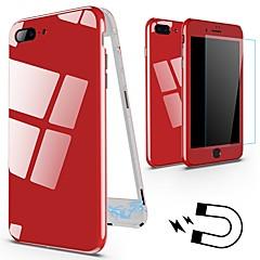 Недорогие Кейсы для iPhone-Кейс для Назначение Apple iPhone X / iPhone 8 Защита от удара / Магнитный Чехол Однотонный Твердый Металл для iPhone X / iPhone 8 Pluss / iPhone 8