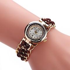 preiswerte Damenuhren-Damen Armband-Uhr / Armbanduhr Chinesisch Armbanduhren für den Alltag Legierung / Stoff Band Freizeit / Modisch Schwarz / Weiß / Blau