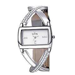 お買い得  レディース腕時計-女性用 ブレスレットウォッチ リストウォッチ クォーツ ブラック / 白 クロノグラフ付き クリエイティブ 新デザイン ハンズ レディース バングル エレガント - ホワイト ブラック 1年間 電池寿命 / SSUO 377