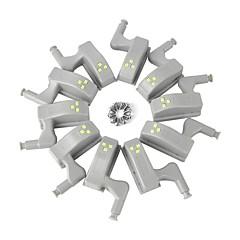 preiswerte Ausgefallene LED-Beleuchtung-BRELONG® 10 Stück LED-Nachtlicht Kühles Weiß Andere batteriebetrieben Schrank / Garderobe / Küchenschrank <5 V