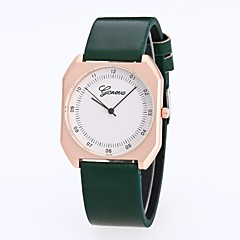 cheap Women's Watches-Women's Dress Watch Wrist Watch Quartz New Design Casual Watch Imitation Diamond PU Band Analog Casual Fashion Black / White / Red - Red Green Black / White One Year Battery Life / Large Dial