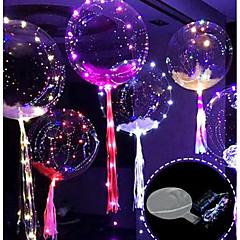 abordables Decoración del Hogar-3m globo 30led con tira led globos luminosos para decoraciones de boda fiesta de cumpleaños navidad año nuevo