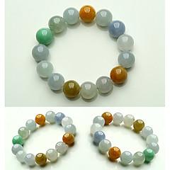 preiswerte Armbänder-Herrn Jade Glasperlen Strang-Armbänder - Kreativ, Kugel Einfach, Grundlegend Armbänder Regenbogen Für Geschenk Verabredung