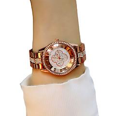 お買い得  レディース腕時計-女性用 リストウォッチ クォーツ クロノグラフ付き 光る カジュアルウォッチ 合金 バンド ハンズ ファッション エレガント チョコレート - コーヒー / 模造ダイヤモンド