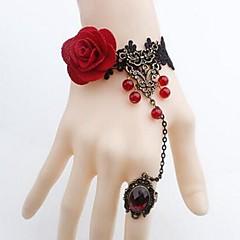 preiswerte Armbänder-Damen Ring-Armbänder - Spitze Blume Einfach, Klassisch Armbänder Schwarz Für Alltag