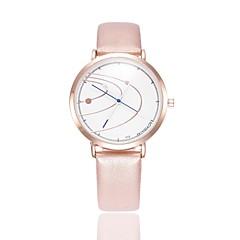 preiswerte Damenuhren-Damen Kleideruhr / Armbanduhr Chinesisch Neues Design / Armbanduhren für den Alltag PU Band Modisch / Elegant Schwarz / Weiß / Blau