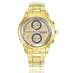 preiswerte Herrenuhren-Herrn Kleideruhr / Armbanduhr Chinesisch Armbanduhren für den Alltag / Großes Ziffernblatt Legierung Band Freizeit / Modisch Gold