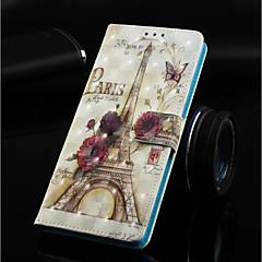 Недорогие Кейсы для iPhone 7-Кейс для Назначение Apple iPhone XR / iPhone XS Max Кошелек / Бумажник для карт / со стендом Чехол Эйфелева башня Твердый Кожа PU для iPhone XS / iPhone XR / iPhone XS Max