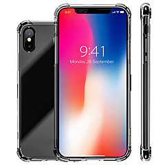 cheap iPhone 7 Cases-Case For Apple iPhone XR / iPhone XS Max Shockproof / Transparent Back Cover Solid Colored Soft TPU for iPhone XS / iPhone XR / iPhone XS Max