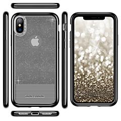 Недорогие Кейсы для iPhone-Кейс для Назначение Apple iPhone X / iPhone XS Покрытие / Ультратонкий / Полупрозрачный Кейс на заднюю панель Однотонный Мягкий ТПУ / ПК для iPhone XS / iPhone X
