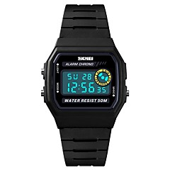 お買い得  メンズ腕時計-SKMEI 男性用 スポーツウォッチ 軍用腕時計 デジタル 50 m アラーム カレンダー クロノグラフ付き PU バンド デジタル カジュアル ファッション ブラック - ブルー ブラック / イエロー ブラック / シルバー 1年間 電池寿命