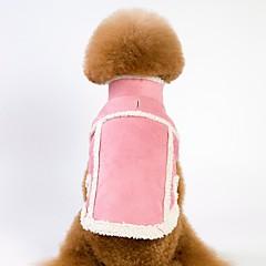 お買い得  犬用ウェア&アクセサリー-犬用 / 猫用 コート / ジャケット 犬用ウェア ソリッド Brown / ピンク フェイクファー / フリース コスチューム ペット用 男女兼用 ウォームアップ / ブリティッシュ