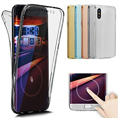 abordables Fundas para iPhone 7 Plus-Funda Para Apple iPhone X / iPhone 8 Transparente Funda de Cuerpo Entero Un Color Suave TPU para iPhone X / iPhone 8 Plus / iPhone 8