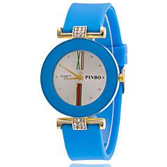 お買い得  レディース腕時計-女性用 リストウォッチ クォーツ カジュアルウォッチ シリコーン バンド ハンズ ファッション 多色 ブラック / 白 / ブルー - ピンク ライトブルー ライトグリーン