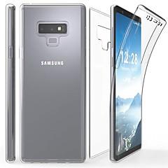 abordables Galaxy Note 5 Carcasas / Fundas-Funda Para Samsung Galaxy Note 9 / Nota 8 Transparente Funda de Cuerpo Entero Un Color Suave TPU para Note 9 / Note 8 / Note 5