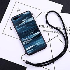 Недорогие Кейсы для iPhone 6-Кейс для Назначение Apple iPhone X / iPhone 8 Plus Защита от пыли Кейс на заднюю панель Масляный рисунок Твердый Закаленное стекло для iPhone X / iPhone 8 Pluss / iPhone 8