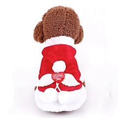 お買い得  犬用品-犬用 / 猫用 コート / スウェットシャツ / タキシード 犬用ウェア シンプル レッド ポリ / コットン混 コスチューム ペット用 女性 新年