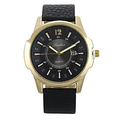 preiswerte Armbanduhren für Paare-Herrn Paar Sportuhr Armbanduhr Quartz Armbanduhren für den Alltag Leder Band Analog digital Freizeit Modisch Schwarz / Braun - Schwarz / Braun Schwarz / Weiß Weiß / Braun