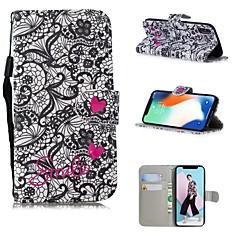 Недорогие Кейсы для iPhone 5-Кейс для Назначение Apple iPhone XS / iPhone XS Max С узором Чехол Кружева Печать Твердый Кожа PU для iPhone XS / iPhone XR / iPhone XS Max