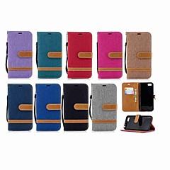 Недорогие Чехлы и кейсы для Huawei серии Y-Кейс для Назначение Huawei Y9 (2018)(Enjoy 8 Plus) / Y6 (2018) Кошелек / Бумажник для карт / со стендом Чехол Однотонный Твердый текстильный для Mate 10 / Mate 9 / Y9 (2018)(Enjoy 8 Plus)