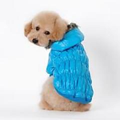 お買い得  犬用ウェア&アクセサリー-犬用 / 猫用 コート 犬用ウェア ソリッド レッド / ブルー / ブラック コットン コスチューム ペット用 男女兼用 カジュアル/普段着 / ウォームアップ