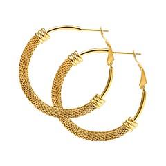 abordables Bijoux pour Femme-Femme Corde Boucles d'oreille gitane - Acier inoxydable Or / Noir / Argent Pour Cadeau Quotidien