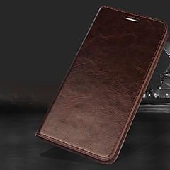 Недорогие Кейсы для iPhone 5-Кейс для Назначение Apple iPhone XR / iPhone XS Max Кошелек / Бумажник для карт / со стендом Чехол Однотонный Твердый Настоящая кожа для iPhone XS / iPhone XR / iPhone XS Max
