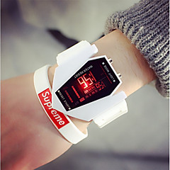 お買い得  メンズ腕時計-男性用 カップル用 スポーツウォッチ デジタル ブラック / 白 カレンダー 夜光計 カジュアルウォッチ デジタル カジュアル ファッション - ホワイト ブラック