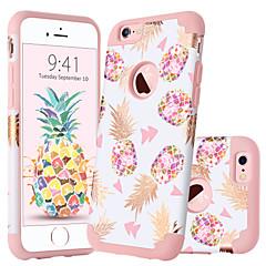 Недорогие Кейсы для iPhone-BENTOBEN Кейс для Назначение Apple iPhone 6 Plus Защита от удара / С узором Кейс на заднюю панель Растения / Фрукты Мягкий ПК / силикагель для iPhone 6s Plus / iPhone 6 Plus
