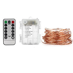 お買い得  LED ストリングライト-10m ストリングライト / リモートコントロール 100 LED SMD 0603 1 13キーリモコン 温白色 / クールホワイト / RGB 防水 / 装飾用 / 車に最適 バッテリー駆動 1セット
