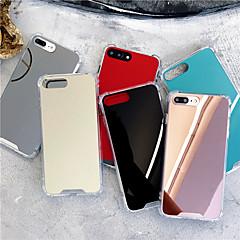 Недорогие Кейсы для iPhone 7 Plus-Кейс для Назначение Apple iPhone X / iPhone XS Max Защита от удара / Зеркальная поверхность Кейс на заднюю панель Однотонный Твердый Акрил для iPhone XS / iPhone XR / iPhone XS Max