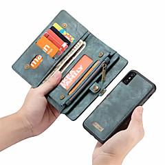 Недорогие Кейсы для iPhone 7-CaseMe Кейс для Назначение Apple iPhone X Кошелек / Бумажник для карт / Флип Чехол Однотонный Твердый Кожа PU для iPhone X / iPhone 8 Pluss / iPhone 8
