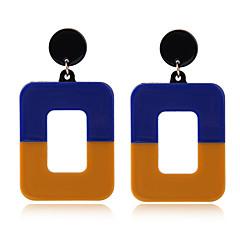 preiswerte Ohrringe-Damen Stilvoll Geometrisch Tropfen-Ohrringe - Kreativ Einfach, Europäisch, Modisch Gelb / Rot / Grün Für Normal