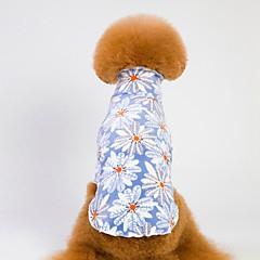 お買い得  犬用品-犬用 / 猫用 パジャマ 犬用ウェア 幾何学模様 / フラワー ブルー / ピンク コーラルフリース100% コスチューム ペット用 男性 フラワー / カジュアル/普段着