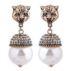 preiswerte Ohrringe-Damen Vintage Stil Tropfen-Ohrringe - Künstliche Perle, Strass Tier Europäisch, Modisch Bronze Für Normal